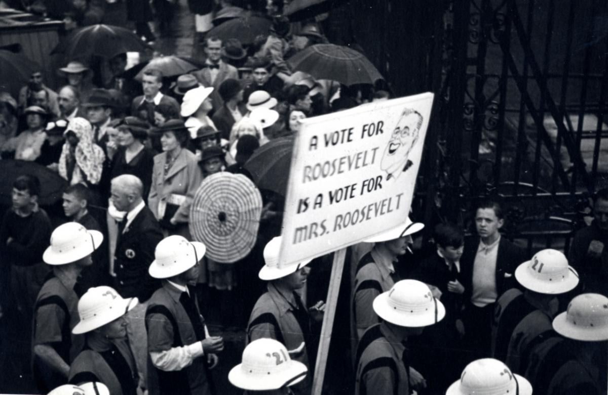 Sign from the class of 1921 at the 1936 P-Rade, courtesy of Mudd Library.