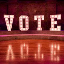 VOTE Letters on Stage at Richardson Auditorium